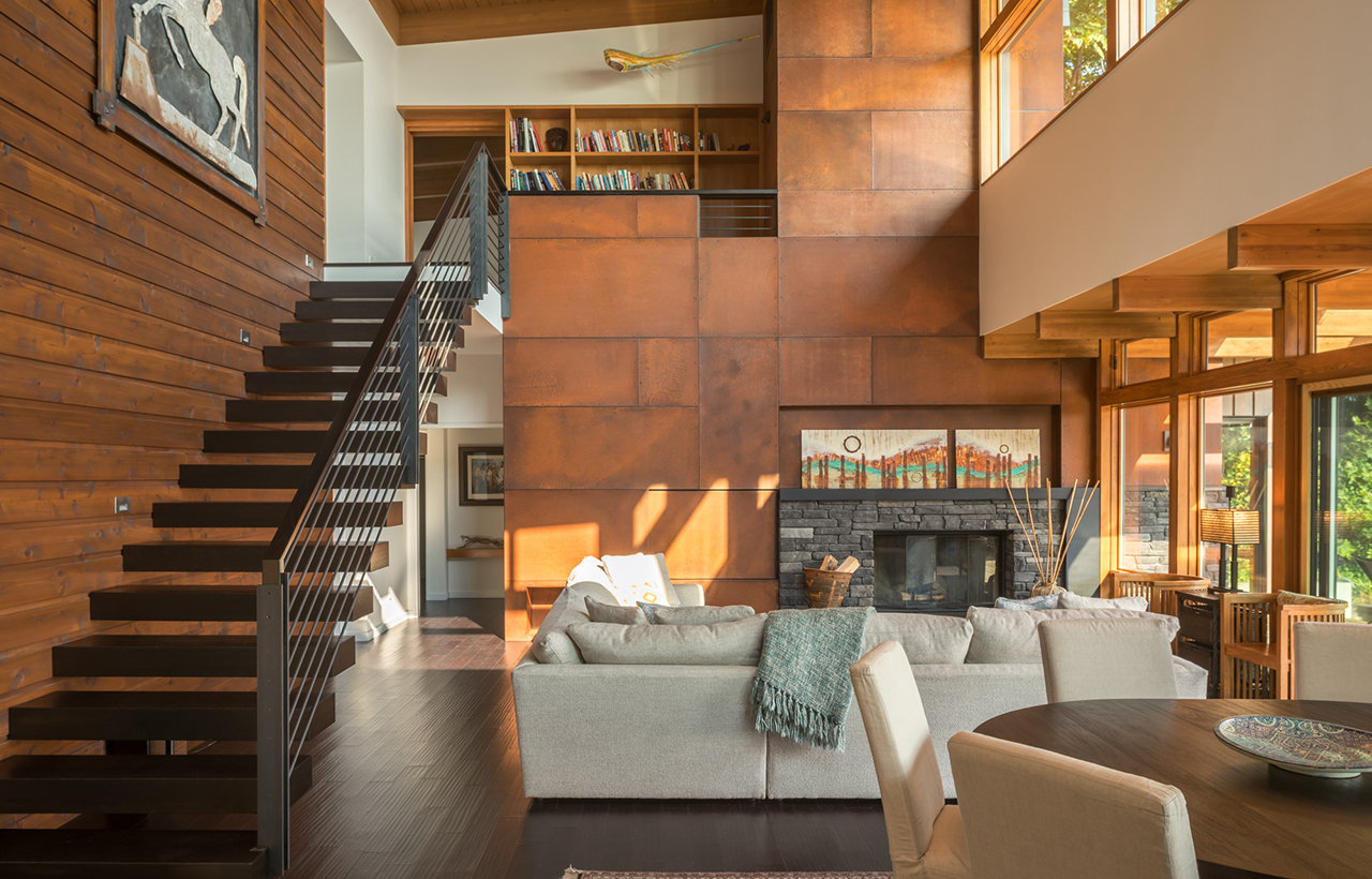 Bainbridge Island Retreat Living Area. Coates Design Architects