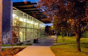 South Seattle Community College, Extension Program Building, Night View, MITHUN